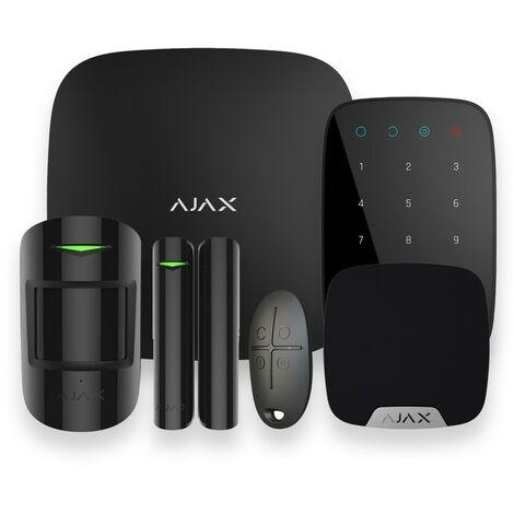 Alarme maison GSM sans fil noir - Ajax AJ-HUBKIT-B-KS - Noir