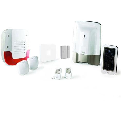 Alarme maison sans fil Delta Dore Pack alarme Tyxal + PROMO - Blanc