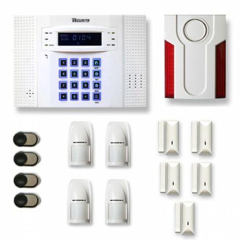 Alarme maison sans fil DNB24 Compatible Box internet