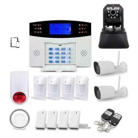 Alarme Maison Sans Fil Gsm Et 3 Caméras Wifi