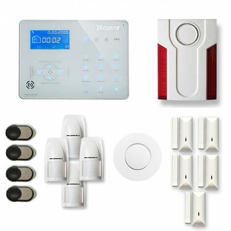 Alarme maison sans fil ICE-B26 Compatible Box internet