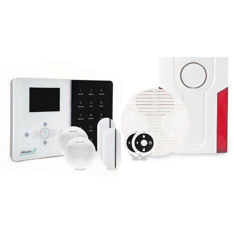 """main image of """"Alarme maison sans fil IP Atlantic'S IPEOS KIT 3 - Paramétrage à distance - Alarme maison connectée - Blanc"""""""