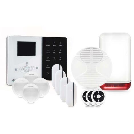 """main image of """"Alarme maison sans fil IP Atlantic'S IPEOS KIT 4 MD-329R - Paramétrage à distance - Alarme maison connectée - Blanc"""""""
