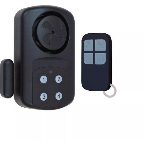 Alarme ou carillon autonome sur piles détection d'ouverture étanche IP67 sirène intégrée - clavier et télécommande