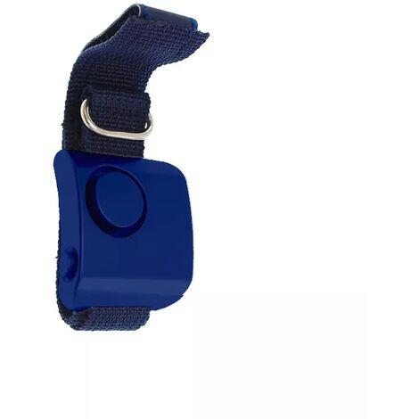 Alarme personnelle de défense 130 dB pour footing - Bleue avec bracelet bleu