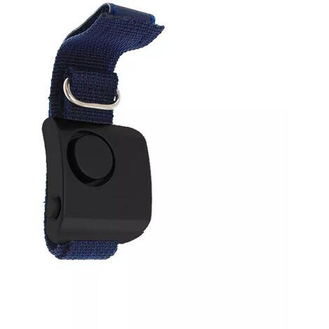 Alarme personnelle de défense 130 dB pour footing - Noire / bracelet bleu