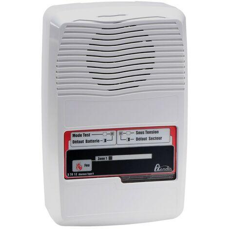Alarme type 4 incendie sur secteur NF 1 boucle