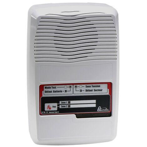 Alarme type 4 incendie sur secteur NF 2 boucles