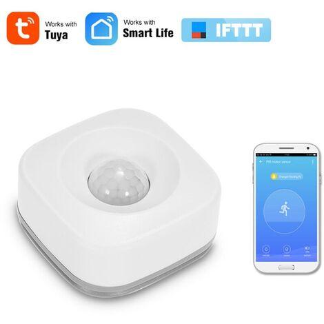 Alarme Wifi Pir Detecteur De Mouvement Detecteur Infrarouge Passif Sans Fil De Securite Anti-Intrusion Capteur Tuya App Controle Compatible Avec Ifttt Smart Home