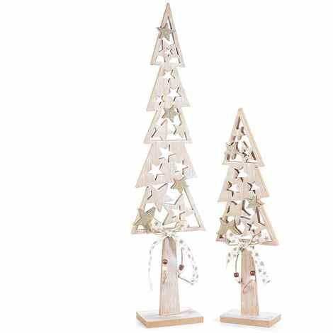 Alberi Di Natale In Legno.Alberi Di Natale In Legno Con Stelle E Glitter