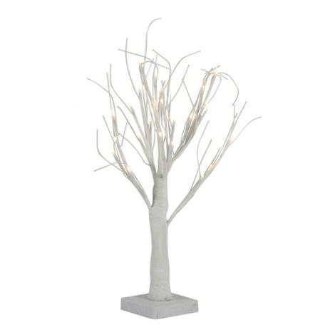 Albero Decorativo Luminoso 45 Cm Per Interni 24 Led Ecologico A