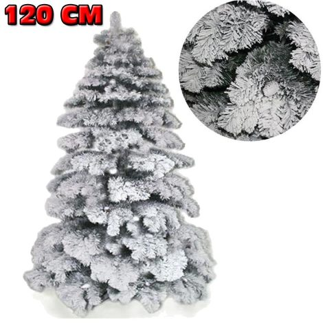 Albero Di Natale Bianco 90 Cm.Albero Di Natale 120 Cm Abete Snow Con Effetto Innevato Bianco Base A Croce