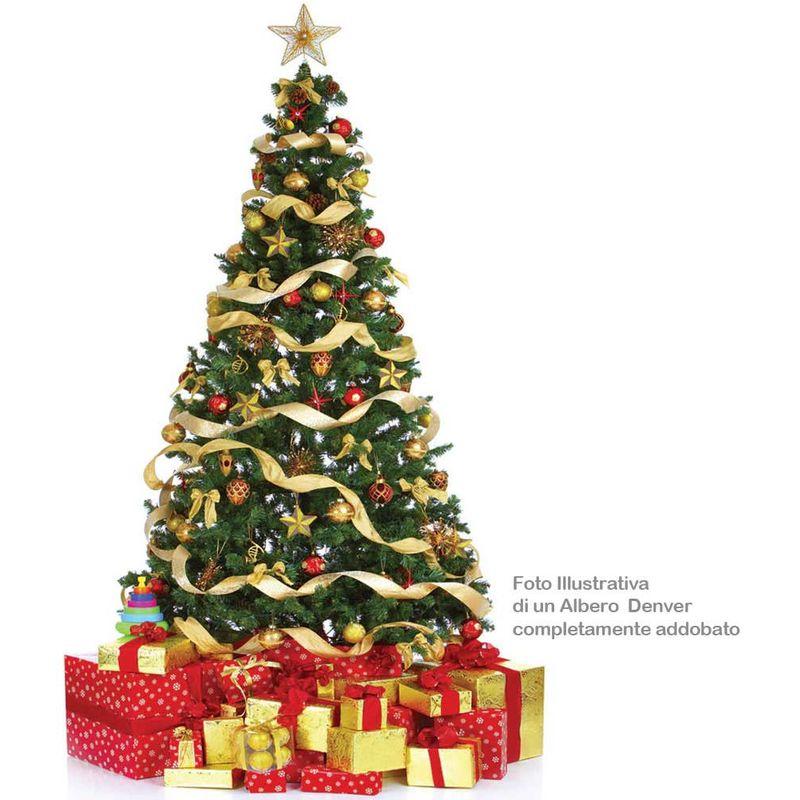 Foto Di Un Albero Di Natale.Albero Di Natale 120 Cm Denver Base A Croce Folto Ecologico 200 Rami Artificiale