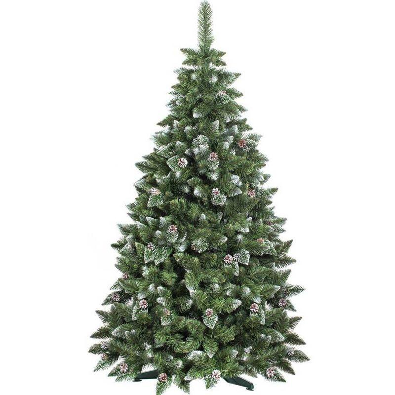 Albero Di Natale 250 Cm.Albero Di Natale 180 Cm King Premium Verde Innevato 800 Rami Folto Con Pigne