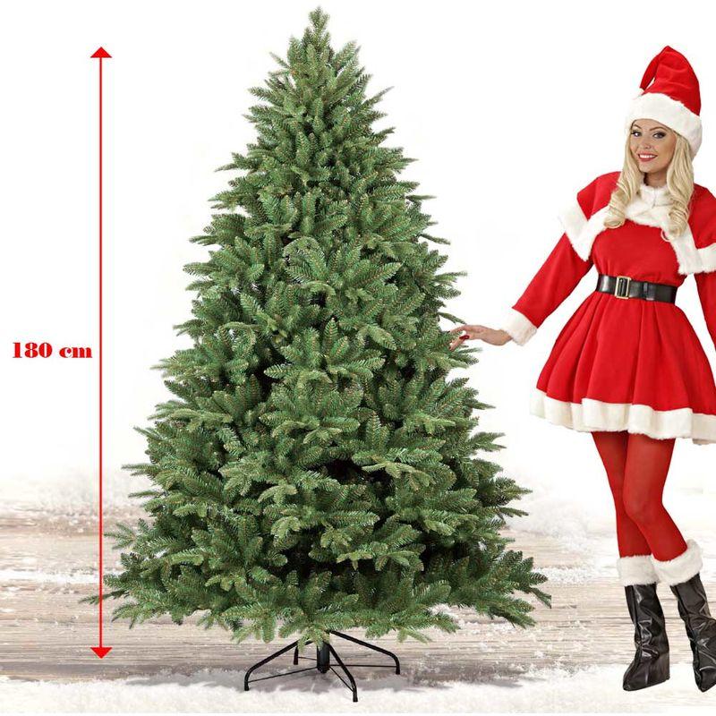 Albero Di Natale Sogno.Albero Di Natale 180cm Sogno 1210 Rami Super Folto Verde Realistico Base A Croce