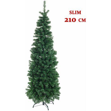 """main image of """"Albero di Natale 210 cm Slim Verde Stretto 1000 Rami Folto PVC Bizzotto Fanes"""""""