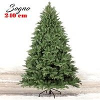 Albero Di Natale 240cm Sogno 2388 Rami Super Folto Verde Realistico Base a Croce