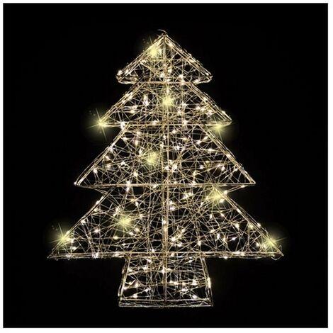 Albero Di Natale Luci Led.Albero Di Natale Con Luci A Led Bianco Caldo