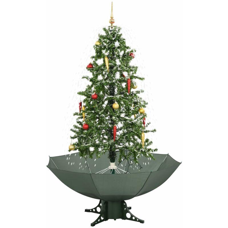 Albero DI Natale bianco effetto innevato con 232 luci led INTERNO ed ESTERNO