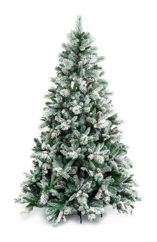 Foto Di Natale Albero.Albero Di Natale Gardena Innevato 240 Cm Con Pigne