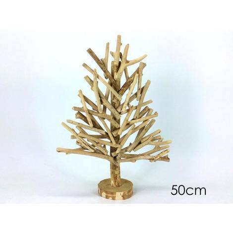 Albero Di Natale 50 Cm.Albero Di Natale In Legno Shabby Chic 50cm Decorazioni Natalizie Sottoalbero