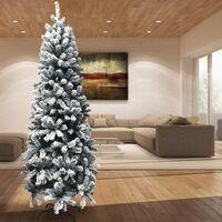 Albero di Natale Innevato Super Folto Slim Salvaspazio Saint Moritz 180 cm