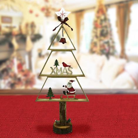Stella Di Natale Legno.Albero Di Natale Legno Con Campana Fiocco Puntale Stella E Personaggio 3 Modelli