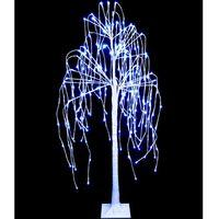ALBERO di Natale Luminoso 240 LED SALICE BIANCO LUCE FREDDA MAURER