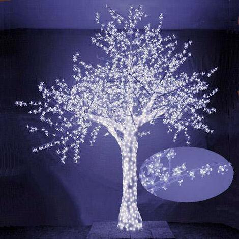 Foto Di Natale Albero.Albero Di Natale Luminoso Con 2832 Led Bianco Freddo 300xh300cm Adami Ciliegio