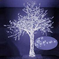Albero Di Natale Luminoso Con 2832 Led Bianco Freddo 300xh300cm Adami Ciliegio
