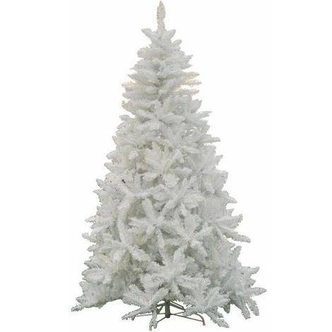Albero Di Natale Bianco.Albero Di Natale Mod Sherwood Altezza 180 Cm Colore Bianco 720 Rami