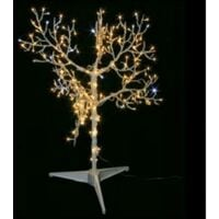 Albero luminoso en metal 90cm 210 led blanc chaud et blanc froid 318 10727 31810727