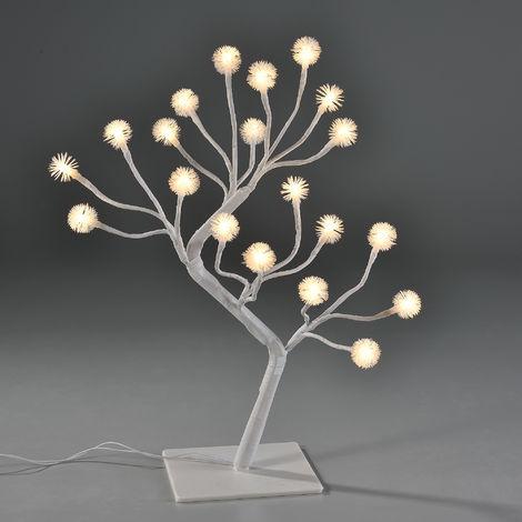 Albero Luminoso Led 45cm Illuminazione Fiocchi Di Neve Bianco Caldo