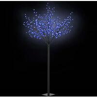 Albero Natale Fiori LED Interno Esterno IP44 250cm Blu