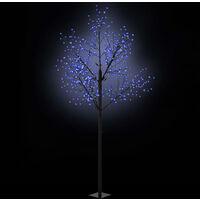 Albero Natale Fiori LED Interno Esterno IP44 300cm Blu