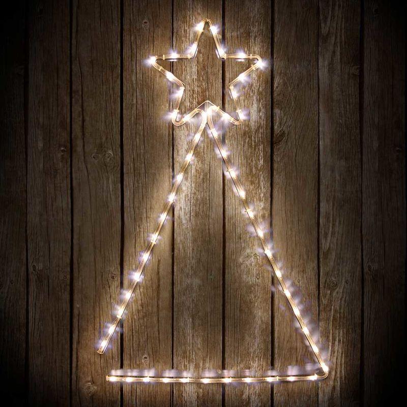 Stella Albero Di Natale Luminosa.Albero Stella Luminosa Di Natale 60x89cm Tubo Luminoso A Led Bianco Giochi Luce