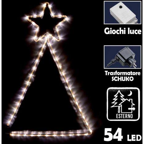 Stella Luminosa Di Natale.Albero Stella Luminosa Di Natale 60x89cm Tubo Luminoso A Led Bianco Giochi Luce