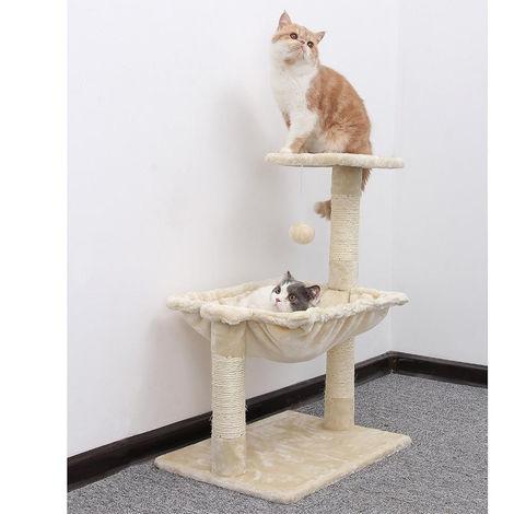 Albero tiragraffi per gatti con cuccia amaca 50x36xh70 cm Beige