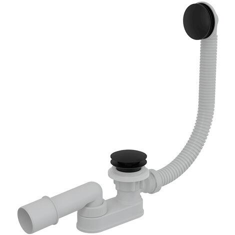 Alca Bonde clic-clac de bain avec siphon, Noir mat (A507BLACK)