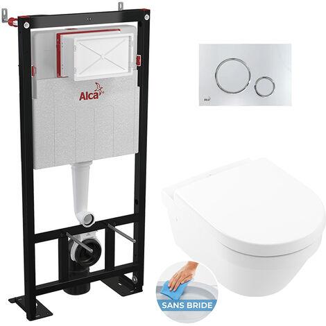 Alca Pack WC Bâti autoportant + Cuvette Architectura sans bride fixations invisibles (Architectura2Alca-6)