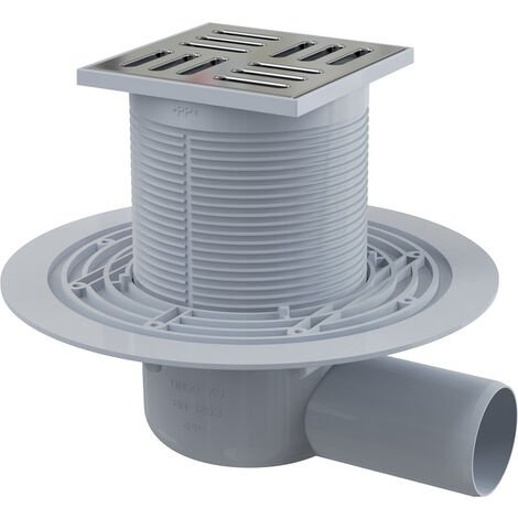 Alca Plast Floor drain 105×105 mm with Ø50 mm side outlet (APV101)