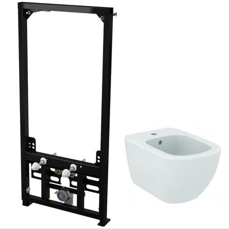 Alca Plast Pack Support frame for suspended bidet + Ideal Standard Bidet Tesi (SetBidetTesi)
