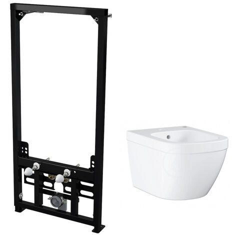 Alca Plast Pack Support frame for wall-hung bidet + Grohe wall-hung bidet, alpine white (SetBidetGrohe-1)