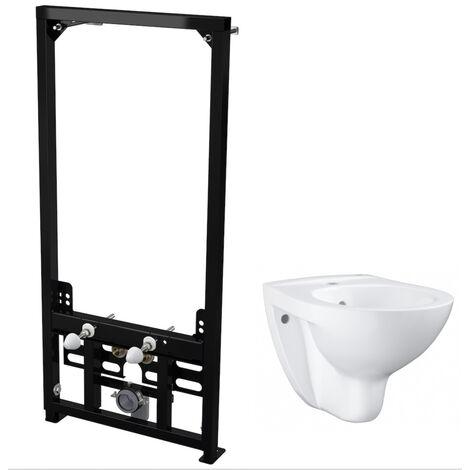 Alca Plast Pack Support frame for wall-hung bidet + wall-hung bidet Grohe Bau Ceramic, alpine white (SetBidetGrohe-2)