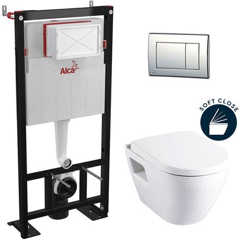 Alca Set WC  avec abattant frein de chute et bâti support autoportant (Alcasm10set)