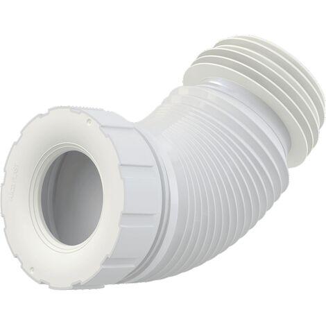 AlcaPlast A97S WC Flex-Anschlußstutzen Universal | 200-520mm weiß ø80-110/ø100-120mm