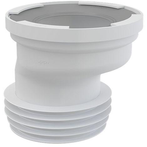 AlcaPlast A991 exzentrischer WC Anschluß Stutzen weiß ø80-110/ø105-115mm: 20mm Versatz