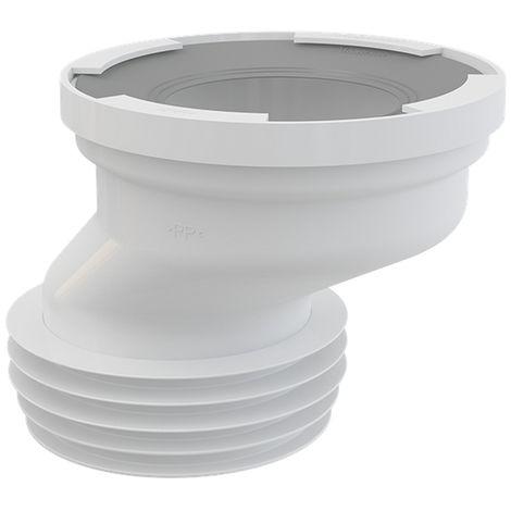 AlcaPlast A991 exzentrischer WC Anschluß Stutzen weiß ø80-110/ø105-115mm: 40mm Versatz