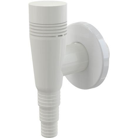 AlcaPlast APS5 Gerätesiphon DN32 mit Rohrbelüfter | Abwasseranschluss für Waschmaschine, Spülmaschine etc.