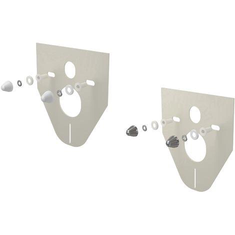 AlcaPlast M910 Schallschutzset 5 mm mit Schraubenabdeckung | für Wand WC und Bidet: verchromt